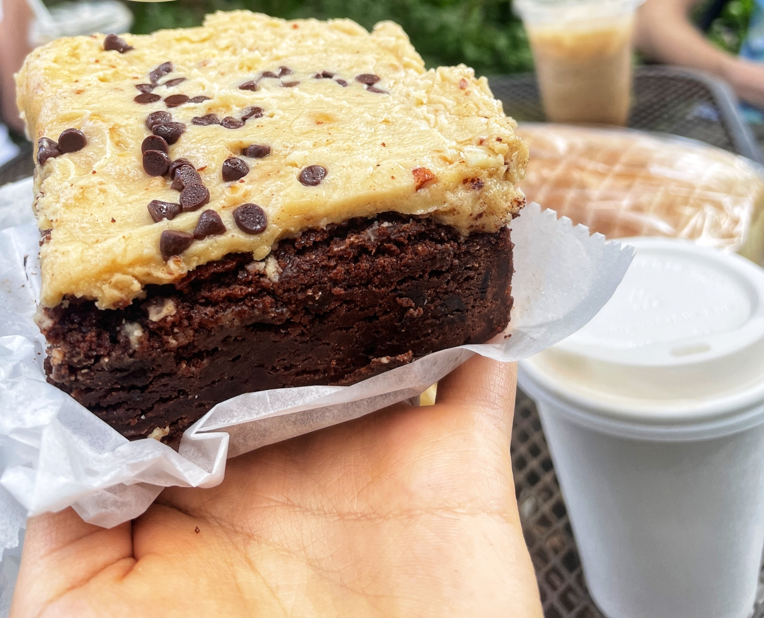 Peanut butter Brownie and Coffee