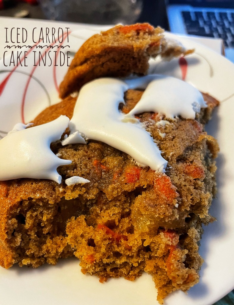 Inside of carrot cake cookie