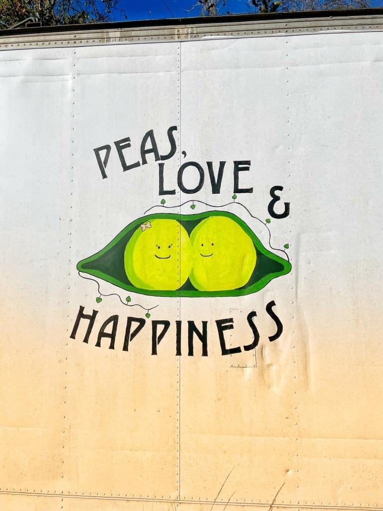 Peas mural