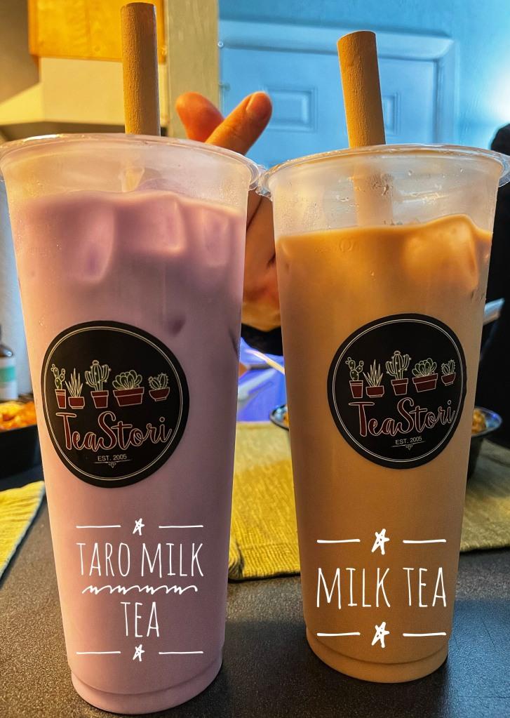 Taro Tea and Milk Tea