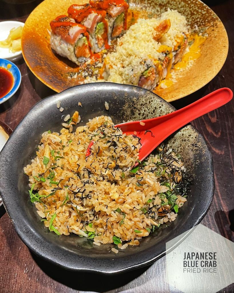 Japanese blue crab fried rice