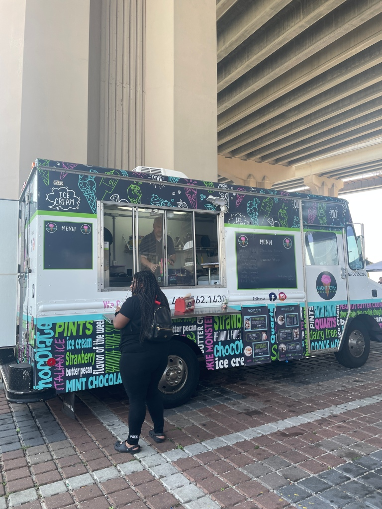 There's an ice cream food truck as well!