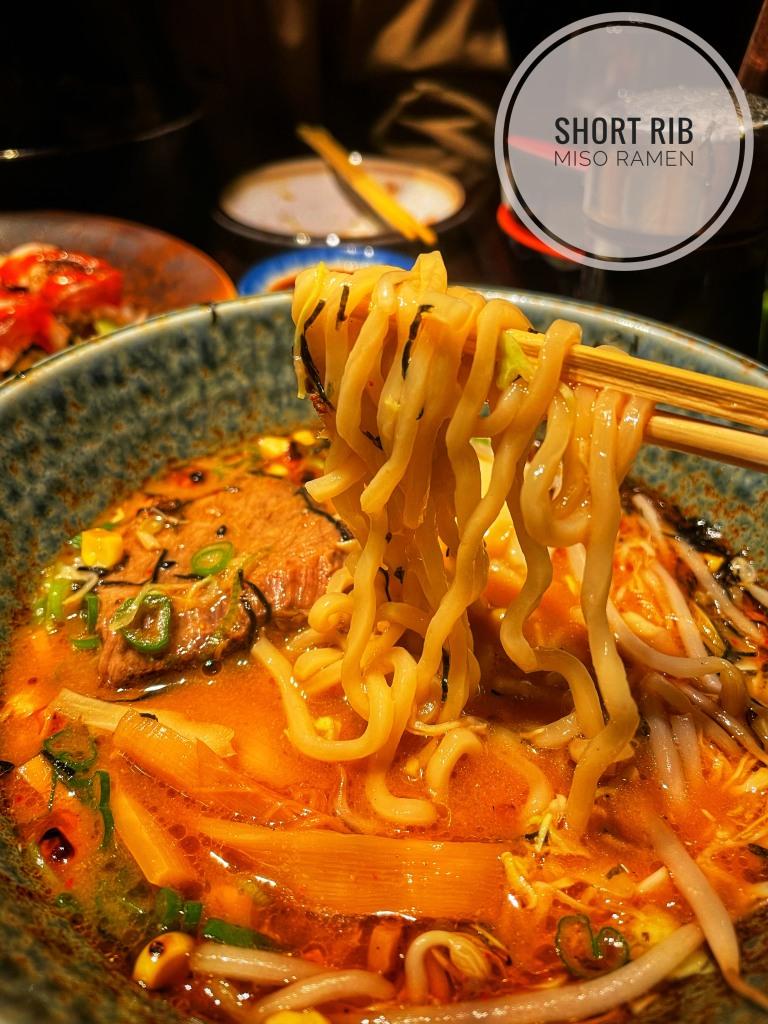 Short rib miso ramen