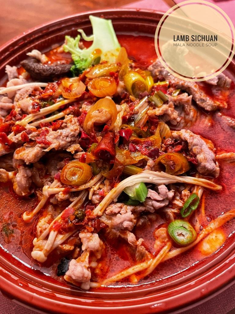 Lamb Sichuan Mala Noodle Soup