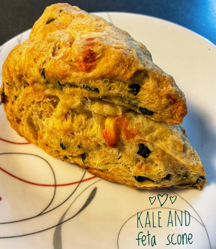 Kale and feta scone