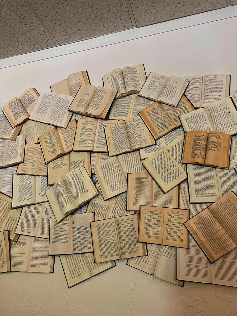 Open book wall