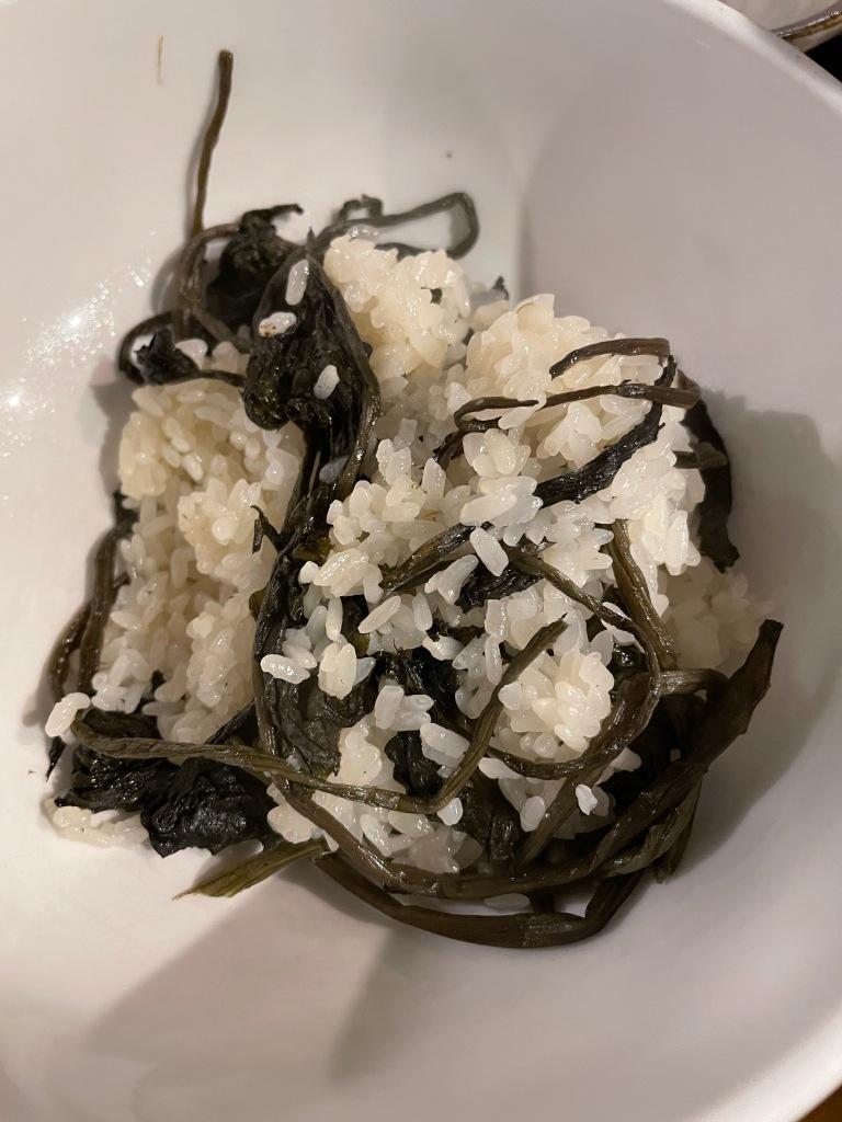 Scooped rice