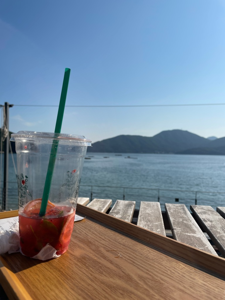 This view makes the drink taste even better!