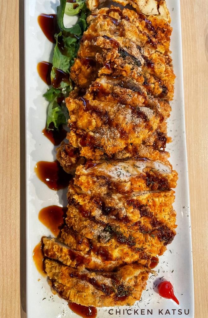 Chicken katsu from the above