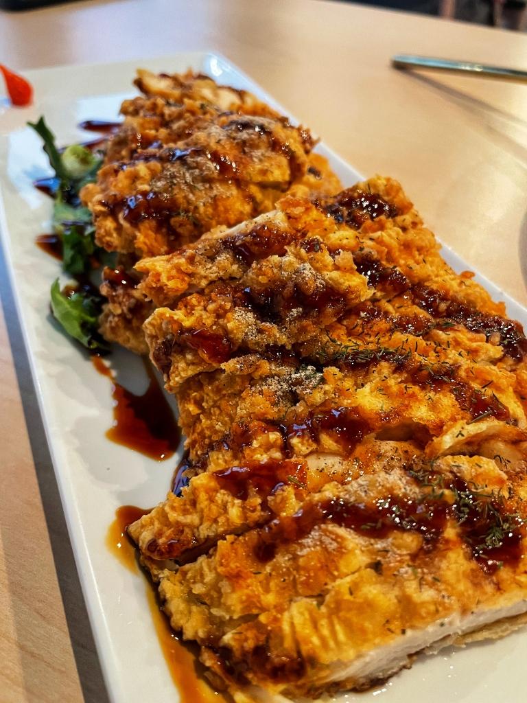 Chicken katsu from side