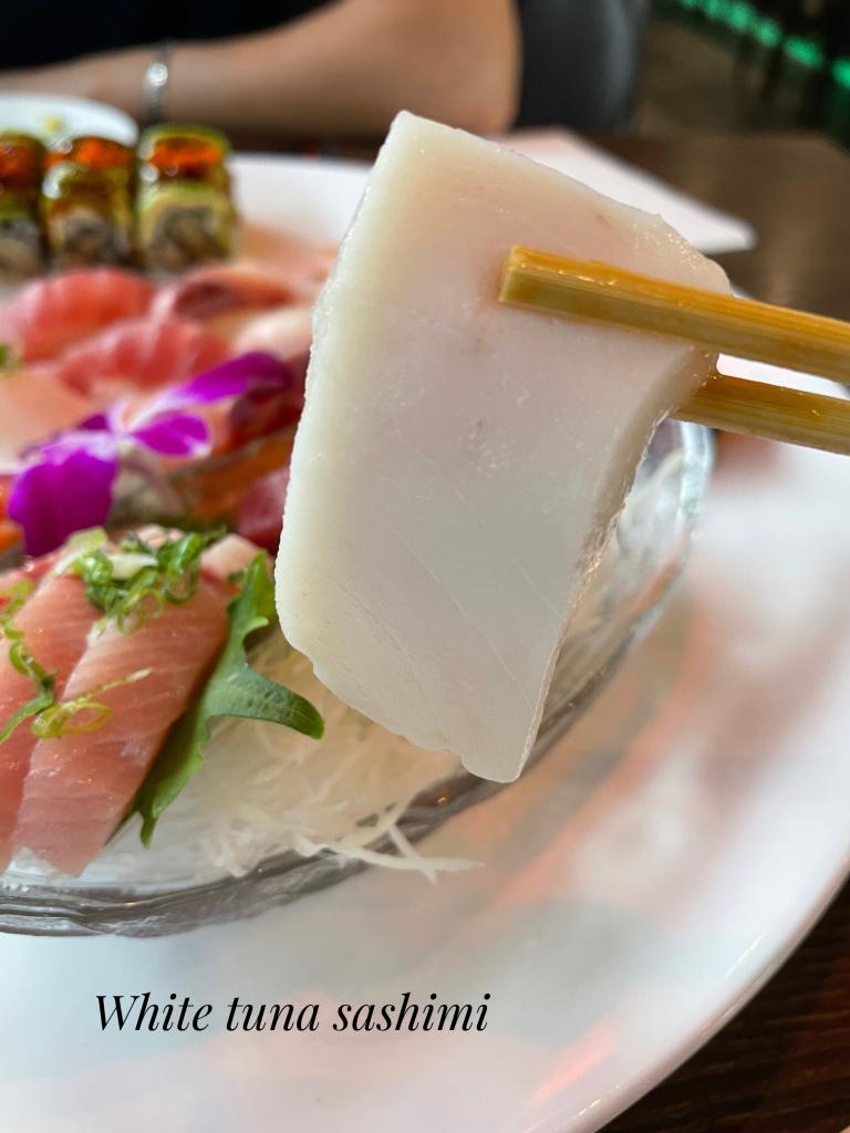 White tuna sashimi