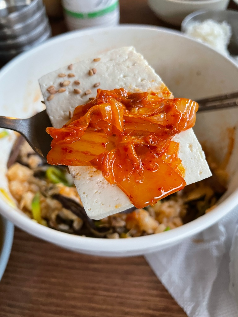 Kimchi and tofu pair so well together!