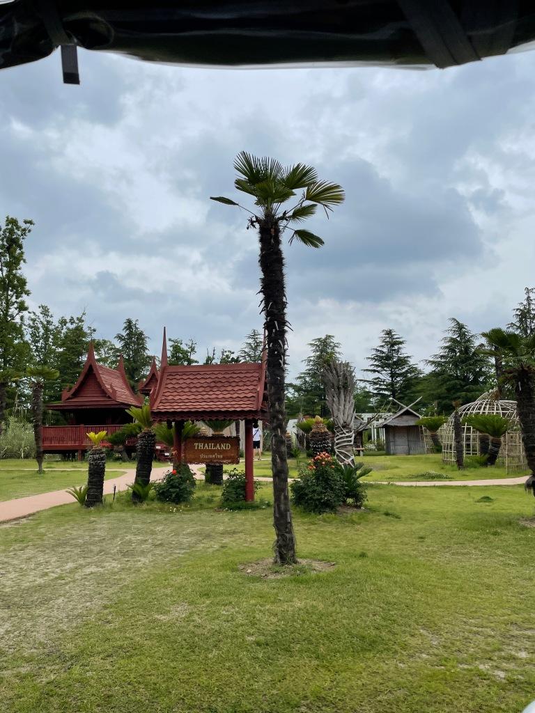 Thailand inspired garden