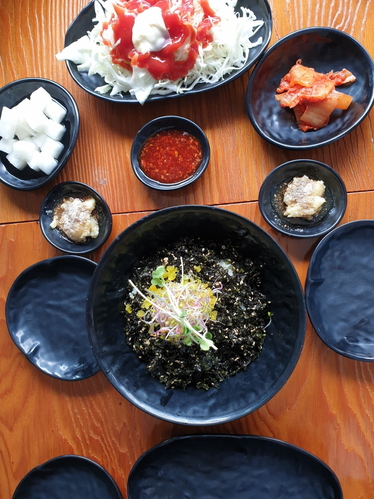 Side dishes and make your own rice balls
