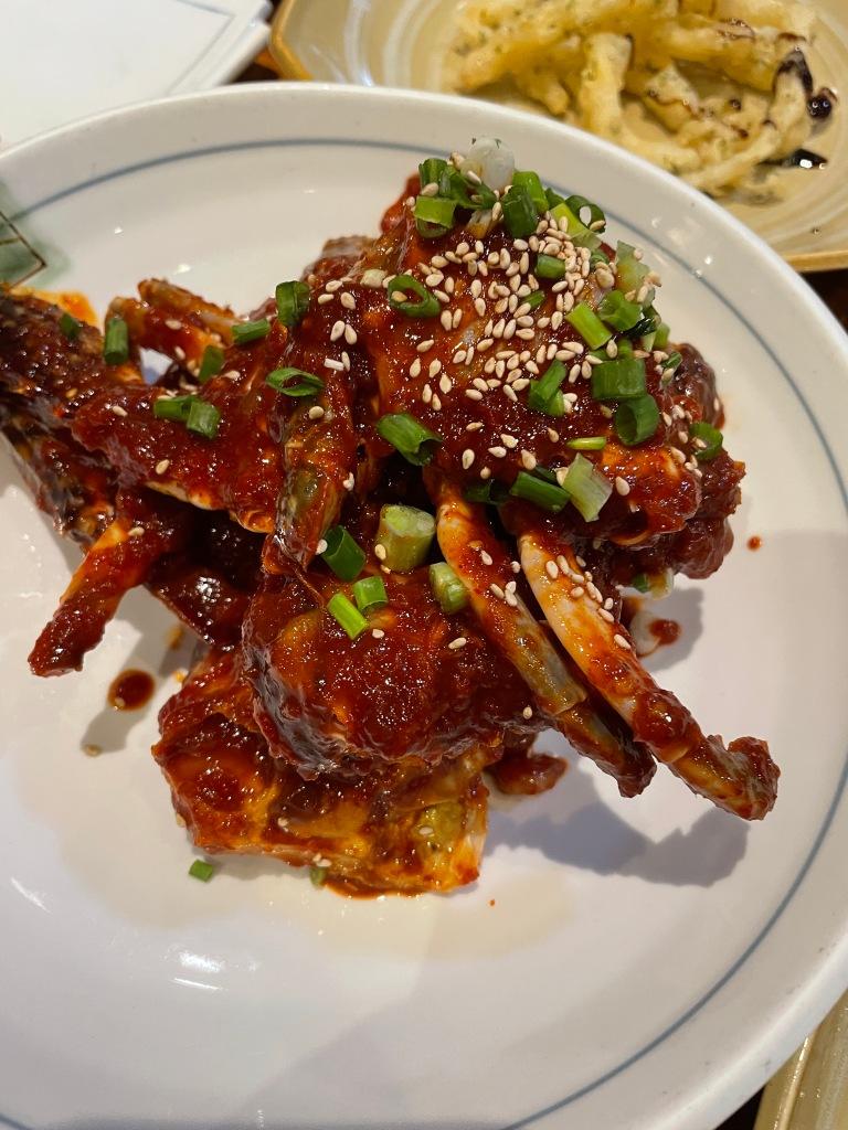 Spicy marinated crab