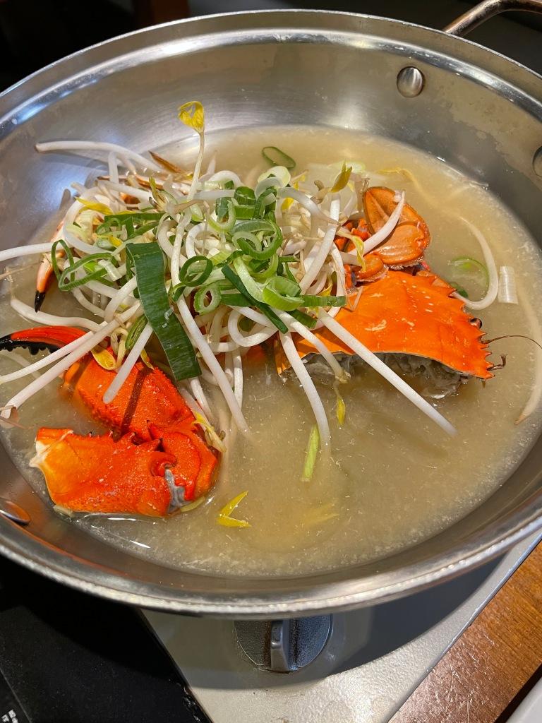 Crab stew (꽃게탕) was delicious!