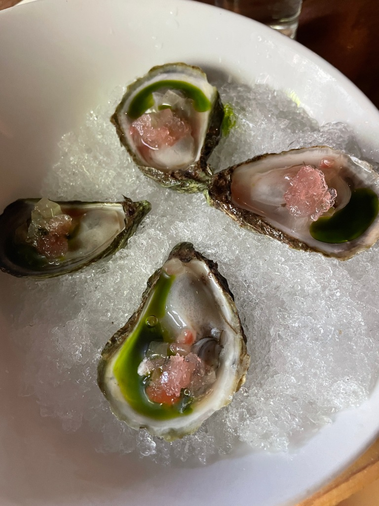 The oysters were presented beautifully!