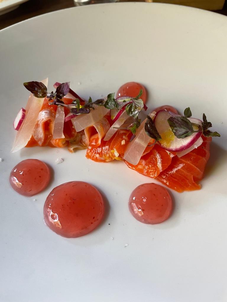 Ocean trout sashimi