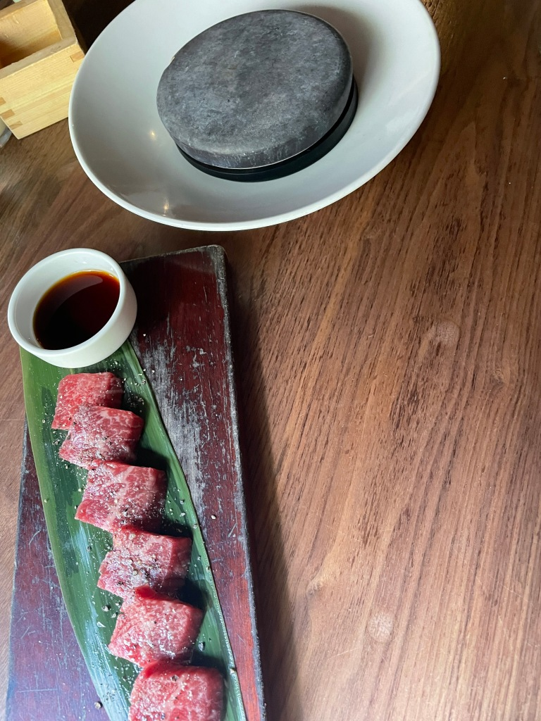 Wagyu beef and the hot rock