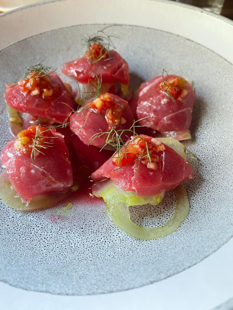 Blue fin sashimi