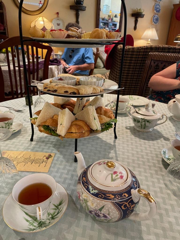 Afternoon high tea set with Masala Chai tea