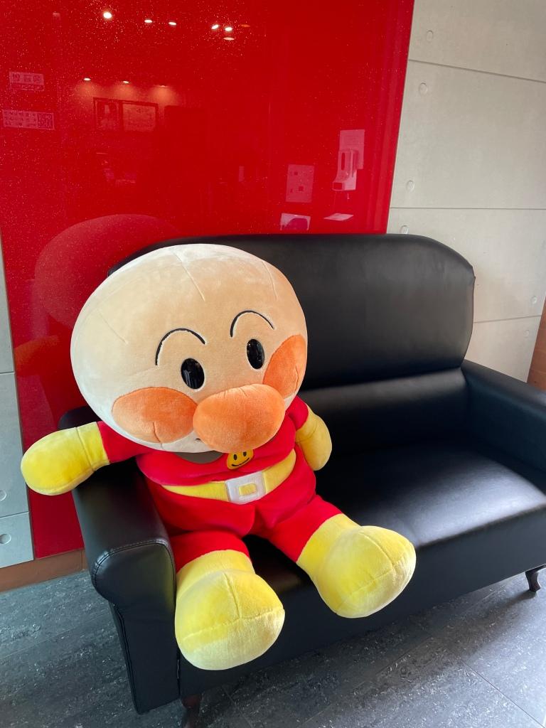 Cute mascot greeting you at the entrance!