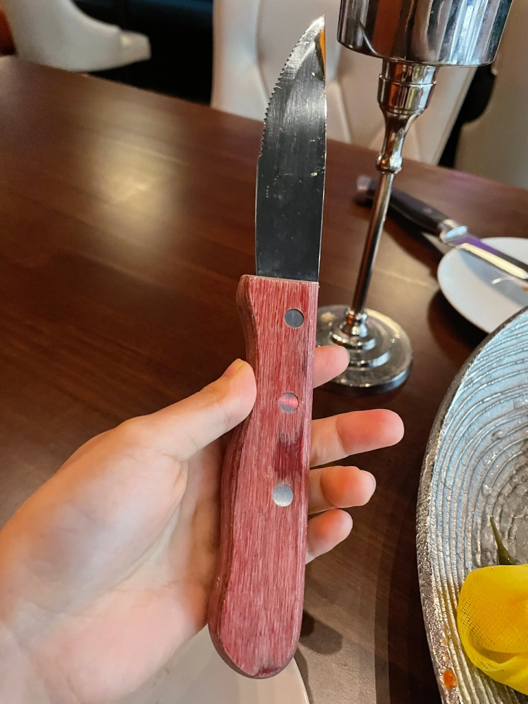I chose a big one with a wooden handle